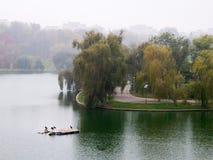 Vue d'automne en parc Photographie stock libre de droits