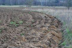 Vue d'automne ondulant des champs, Bohême du sud image libre de droits