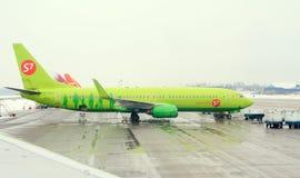 Vue d'avion à l'aéroport Images libres de droits