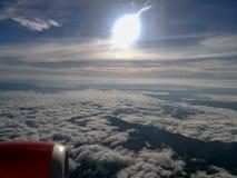 Vue d'avion de fenêtre Photos libres de droits