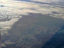 Vue d'avion de fenêtre Images libres de droits