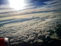 Vue d'avion de fenêtre Image stock