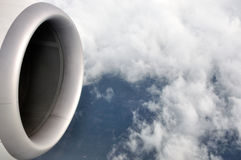 Vue d'avion en ciel Images libres de droits
