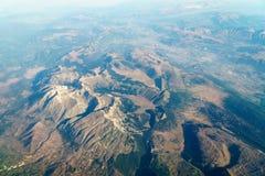 Vue d'avion d'horizon de la terre Photos libres de droits