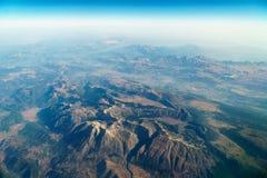 Vue d'avion d'horizon de la terre Images stock