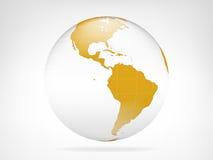 Vue d'or de contexte de planète de l'Amérique Images stock