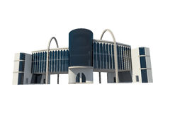 vue 3d du bâtiment commercial Image stock