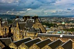 Vue d'Edimbourg image libre de droits