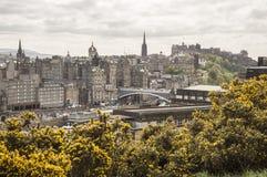 Vue d'Edimbourg de côte de Calton Photographie stock libre de droits