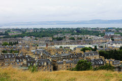 Vue d'Edimbourg de colline de Calton Photographie stock libre de droits