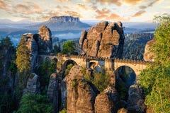 Vue d'Elbe de Bastei, Sachsische Schweiz images libres de droits