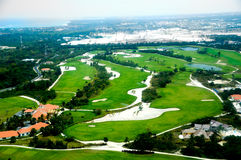 Vue d'Elevevated de terrain de golf Image libre de droits