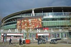 Vue d'Emirates Stadium Images libres de droits