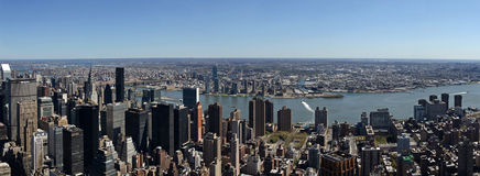 Vue d'Empire State Building Photos libres de droits