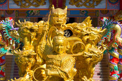 Vue d'ensemble chinoise de temple Image libre de droits