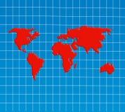 Vue d'ensemble de carte du monde Images libres de droits