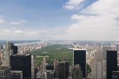 Vue d'ensemble de Central Park pendant le jour Images stock