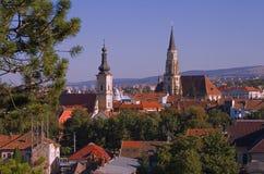 Vue d'ensemble de Cluj Napoca Images libres de droits
