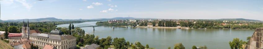 Vue d'ensemble de Danube Image libre de droits