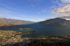Vue d'ensemble de Queenstown photo libre de droits