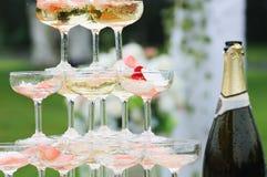 Vue d'ensemble de réception de mariage Photo libre de droits