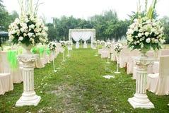 Vue d'ensemble de réception de mariage Photographie stock libre de droits