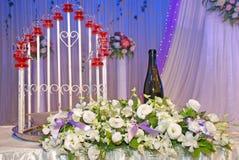 Vue d'ensemble de réception de mariage Image libre de droits