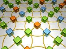 vue d'ensemble de réseau de chaos Photo libre de droits