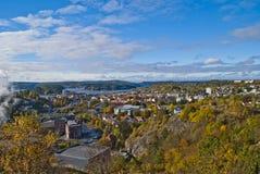 Vue d'ensemble de ville de Halden Image libre de droits
