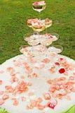 Vue d'ensemble extérieure de réception de mariage Images libres de droits