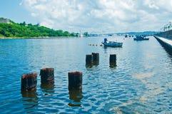 Vue d'entrée de baie de La Havane image stock