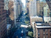 Vue d'entreprise de rue de bâtiments image libre de droits