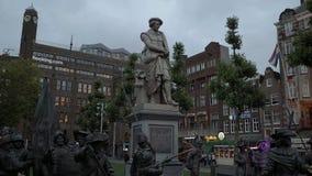 Vue d'Evenning au centre de la ville d'Amsterdam - AMSTERDAM - LES PAYS-BAS - 19 juillet 2017 clips vidéos