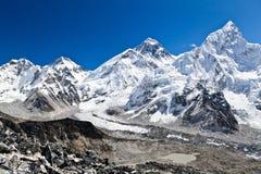 Vue d'Everest de support en Himalaya, Népal Photographie stock libre de droits