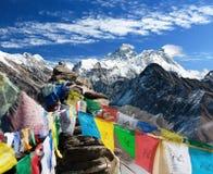 Vue d'everest - le Népal Photographie stock libre de droits