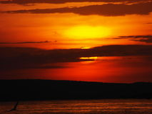 Vue d'Evining de ciel du lac Victoria Images stock