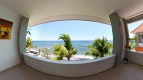 Vue d'hôtel dans une station de vacances tropicale vr360 banque de vidéos