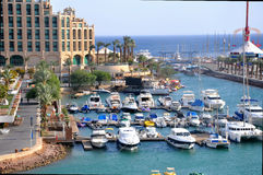 Vue d'hôtel d'Eilat Photos libres de droits