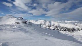 Vue d'hiver d'Alpes de Silvretta (Autriche) banque de vidéos