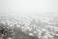 Vue d'hiver d'Iéna Images libres de droits