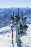 Vue d'hiver dans les Alpes Photo stock
