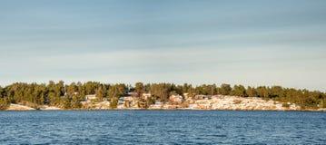 Vue d'hiver de Sollenkroka, Suède Images libres de droits