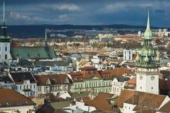 Vue d'horizon de Brno, République Tchèque Photos libres de droits