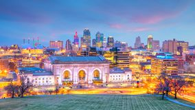 Vue d'horizon de Kansas City au Missouri photo stock