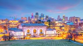 Vue d'horizon de Kansas City au Missouri image libre de droits
