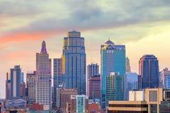 Vue d'horizon de Kansas City au Missouri photo libre de droits