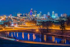 Vue d'horizon de Kansas City au Missouri photos stock