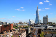 Vue d'horizon de Londres avec le tesson à l'arrière-plan Photo libre de droits