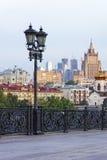 Vue d'horizon de Moscou du Christ la cathédrale de sauveur Images libres de droits