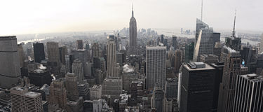 Vue d'horizon de New York City de Rockefeller Images stock